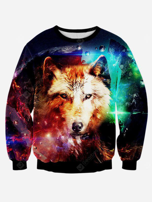 Wolf 3D Print Long Sleeve Graphic Sweatshirts