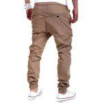 cheap Drop Crotch Drawstring Double Welt Pockets Jogger Pants