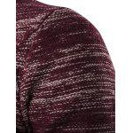 Round Neck Knit Blends Ombre Kink Design Long Sleeve Sweater - WINE RED