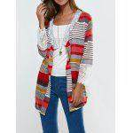 Lace Splicing Colorful Print Thin Cardigan - COLORMIX