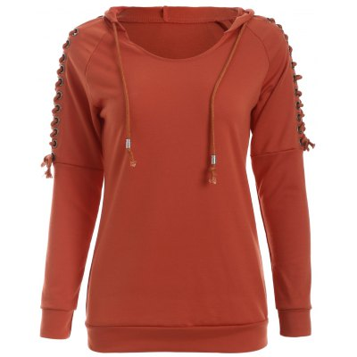 Eyelet Hooded Sweatshirt
