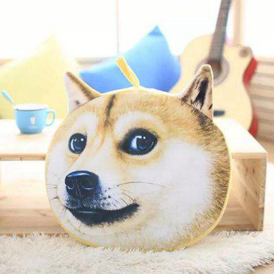 Detachable Akita Dog Shape Soft Plush Sponge Padding Sofa Cushion