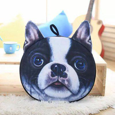 Detachable Bulldog Shape Short Plush Sponge Padding Sofa Cushion