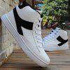 Lace Up Colour Block Casual Shoes - WHITE AND BLACK