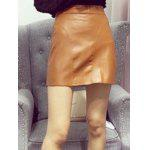 cheap Slimming PU Leather Skirt