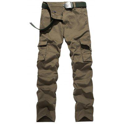 Plus Size Zipper Fly Pockets Design Cargo Pants