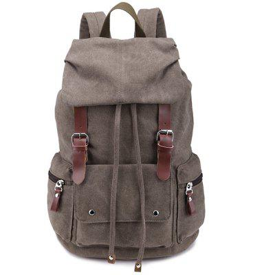 Zippers Double Buckle Drawstring Backpack