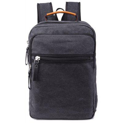 Zippers Canvas color block Backpack