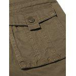 Plus Size Zipper Fly Pockets Design Cargo Pants photo