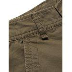 Plus Size Zipper Fly Pockets Design Cargo Pants deal