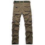 cheap Plus Size Zipper Fly Pockets Design Cargo Pants