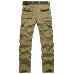cheap Plus Size Straight Leg Pockets Design Cargo Pants
