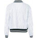 cheap Striped Letter Long Sleeve Jacket