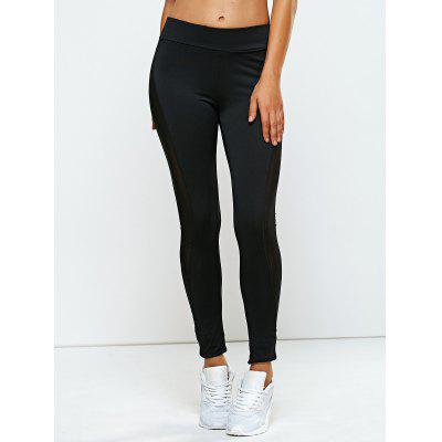 High Rise Mesh Pannel Yoga Leggings