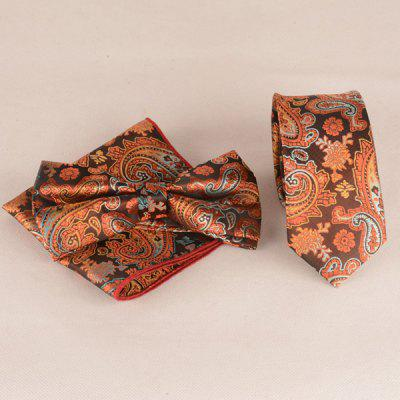 Buy ORANGE Ancient Paisley Jacquard Neck Tie Set for $9.12 in GearBest store