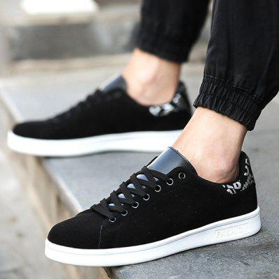 Buy BLACK Suede Splicing Lace Up Casual Shoes for $27.59 in GearBest store