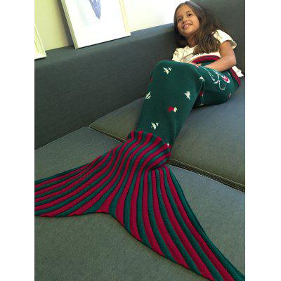 Santa Claus Pattern Knitting Mermaid Tail Blanket