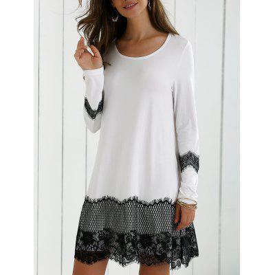 Lace Splicing Bequemes Kleid
