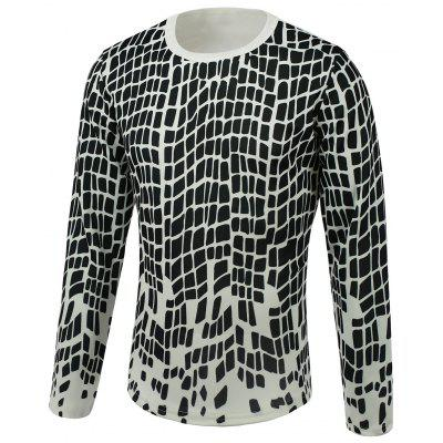 Round Neck Long Sleeve Print T-Shirt For Men