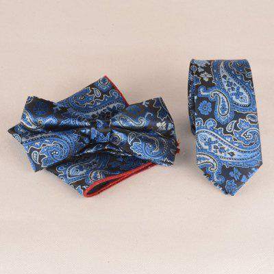 Nautical Style Paisley Jacquard Neck Tie Set