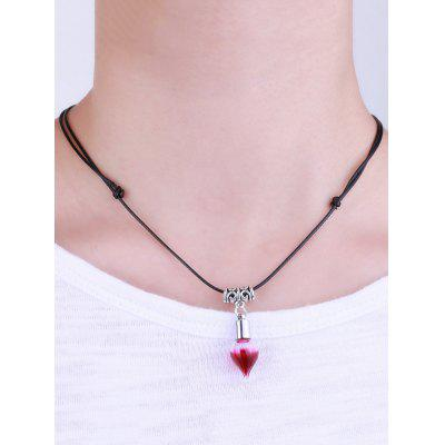 Faux Leather Rope Blood Halloween NecklaceNecklaces &amp; Pendants<br>Faux Leather Rope Blood Halloween Necklace<br><br>Gender: For Women<br>Item Type: Pendant Necklace<br>Package Contents: 1 x Necklace<br>Shape/Pattern: Others<br>Style: Trendy<br>Weight: 0.0240kg