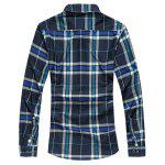 cheap Plaid Turn-down Collar Long Sleeve Shirt