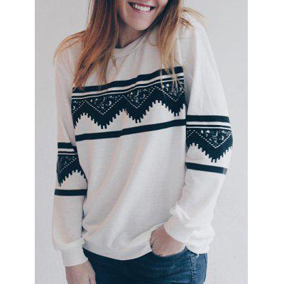 Long Sleeve Chevron Graphic Sweatshirt
