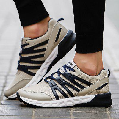 Lace-Up Mesh PU Spliced Athletic Schuhe