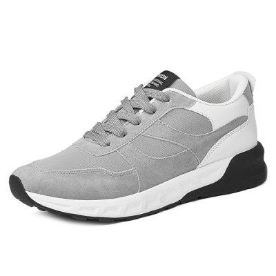 Mesh Suede Spliced Color Block Athletic Shoes
