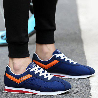 Suede Stitching Athletic Shoes