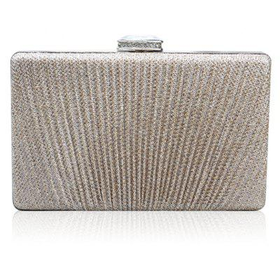 Glittering Clip Rhinestone Chains Pleated Evening Bag