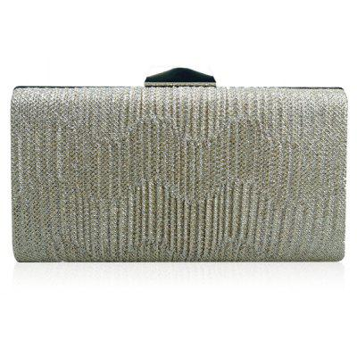 Clip Rhinestone Chains Pleated Evening Bag