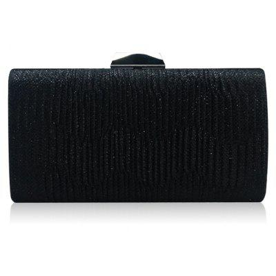 Metallic Chains Pleated Evening Bag