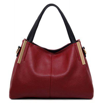 Metal PU Leather Tote Bag
