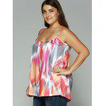 Spaghetti Strap Printed Plus Size Tank Top deal