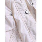 Pocket Design Drawstring Trench Coat for sale