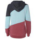 Long Sleeve Patchwork Pullover Hoodie - COLORMIX