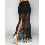 best High Waist See-Through Lace Bodycon Skirt