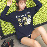 cheap Printed Loose-Fitting Sweatshirt