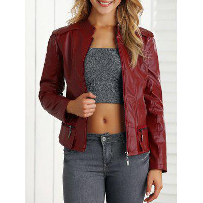 Fake Leather Biker Jacket