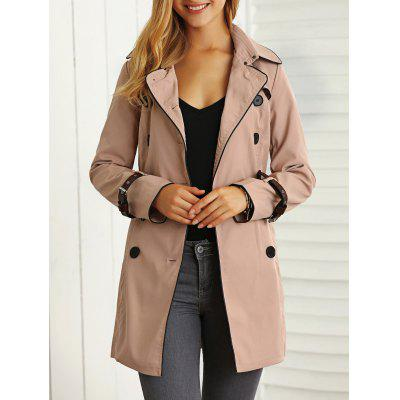 Belted Pockets Trench Coat