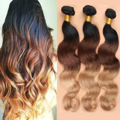 3 Pcs Body Wave Ombre Color 7A Virgin Indian Hair Weaves