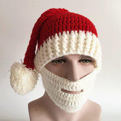 Christmas Knitted Beard Face Hat 948 Free Shippinggearbest