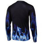 cheap 3D Pegasua Print Round Neck Long Sleeve T-Shirt