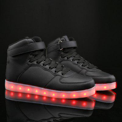 Led Luminous Lights Up Tie Up Casual Shoes