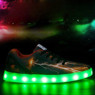 Buy DEEP BROWN 42 Led Luminous Lightning Pattern Lights Up Casual Shoes for $20.21 in GearBest store