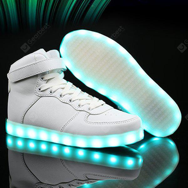 Led Luminous Lights Up Tie Up Shoes Casual