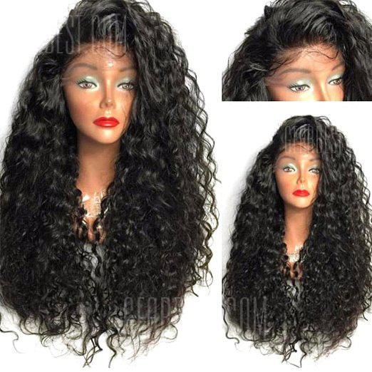 Long Curly Side Parting Lace Front High Temperature Fiber Wig