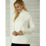 Knitted Pullover Loose-Fitting Sweater - WHITE