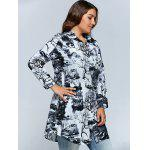 Plus Size Ink Painting Button Down Dress deal